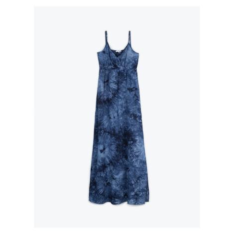 GATE Długa sukienka z nadrukiem tie-dye