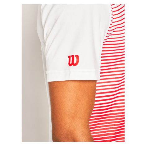 Wilson Koszulka techniczna Team Striped Crew WRA769704 Czerwony Regular Fit