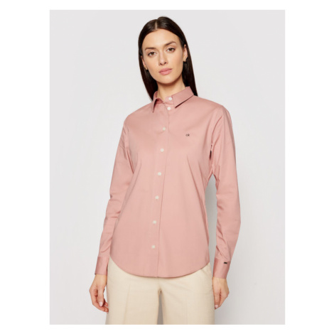 Calvin Klein Koszula K20K202020 Różowy Slim Fit