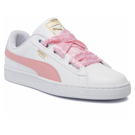Sneakersy PUMA - Basket Heart Reinvent Wn's 369935 01 Puma White/Bridal Rose