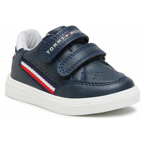 Sneakersy TOMMY HILFIGER - Low Cut Velcoro Sneaker T1B4-31073-0621X007 M Blue/White X007