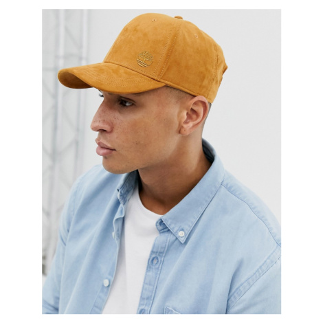 Timberland suede baseball cap in tan