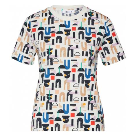 EDITED Koszulka 'Laney' offwhite / czerwony / niebieski / liliowy
