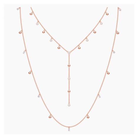 Naszyjnik Penélope Cruz Moonsun, długi, biały, powlekany różowym złotem Swarovski