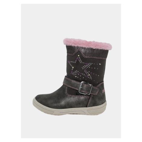 Ciemnoszare dziewczęce buty zimowe Tom Tailor
