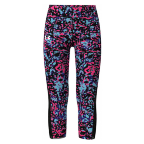 Legginsy Under Armour HG Armour Printed Ankle Crop-BLK
