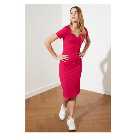 Trendyol Pushhya Fit Mini dzianinowa sukienka