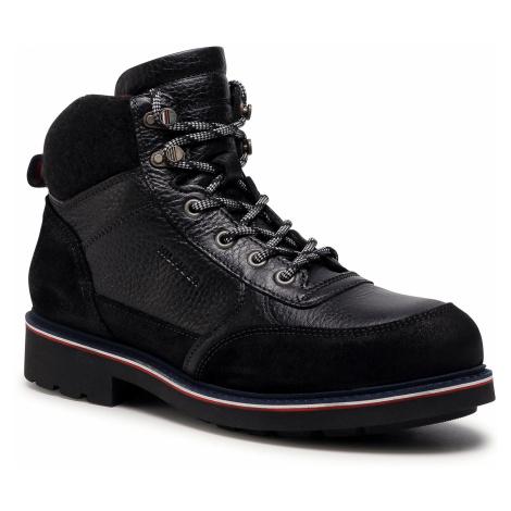 Kozaki TOMMY HILFIGER - Warm Check Lining Lth Boot FM0FM03044 Black BLK