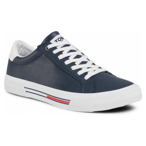 Tenisówki TOMMY JEANS - Essential Leather Sneaker EM0EM00488 Twilight Navy C87 Tommy Hilfiger