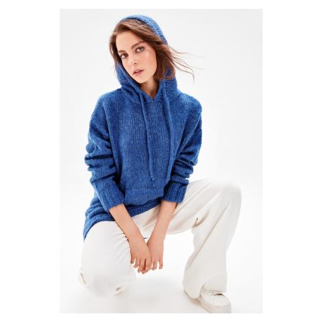 Trendyol Indigo Hoodie Knitwear Sweater