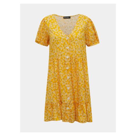 Żółta sukienka w kwiaty TALLY WEiJL