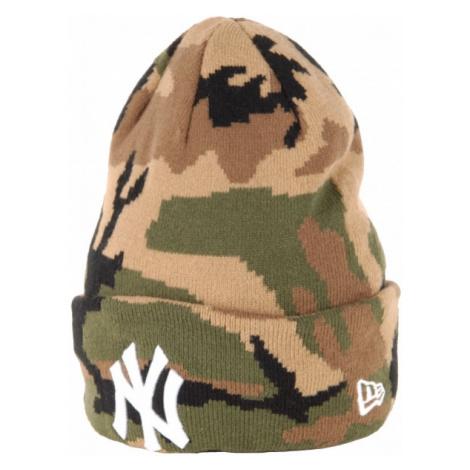 New Era MLB NEW YORK YANKEES brązowy UNI - Czapka klubowa zimowa