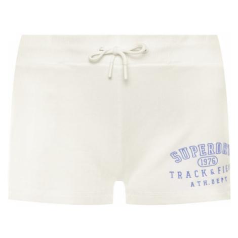 Superdry Szorty sportowe Track & Field W7110009A Biały Regular Fit