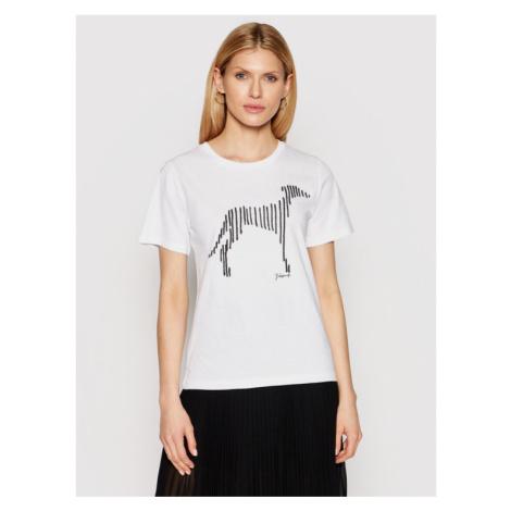 Trussardi T-Shirt 56T00357 Biały Regular Fit