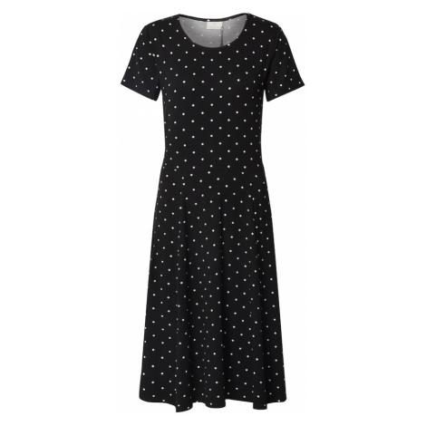 Kaffe Letnia sukienka 'KAhazel Jersey Dress' biały / czarny