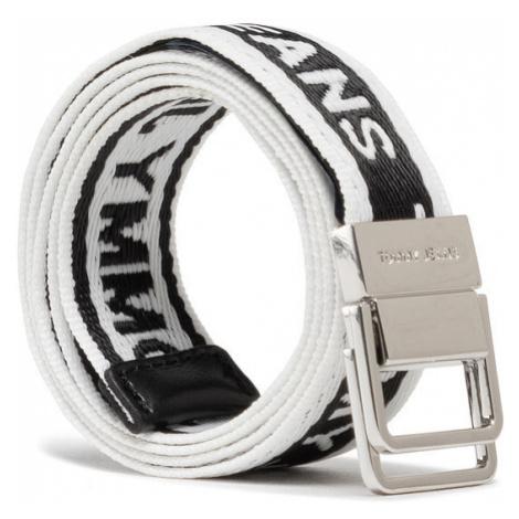 Tommy Jeans Pasek Damski Tjw Mini Logo Tape Belt AW0AW09753 Biały Tommy Hilfiger