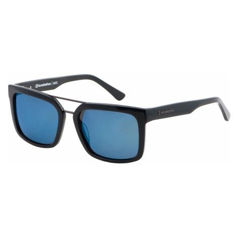 okulary Horsefeathers Cartel - Gloss Black/Mirror Blue/Polarized