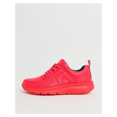 Camper lace up trainer in neon