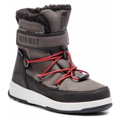Śniegowce MOON BOOT - Jr Boy Boot Wp 34051600002 Black/Castleroc