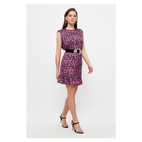 Trendyol Multicolored Collar Detailed Satin Dress