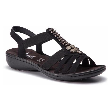 Sandały RIEKER - 60806-00 Schwarz