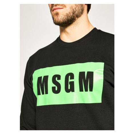 MSGM Bluza 2840MM68CF 207099 Czarny Regular Fit