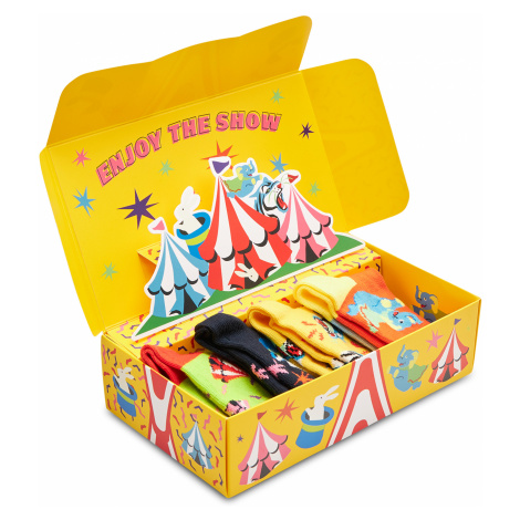 Zestaw 4 par wysokich skarpet dziecięcych HAPPY SOCKS - XKCIR09-0200 Kolorowy