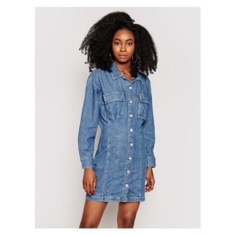 Levi's® Sukienka jeansowa Braelyn Utility 29325 Granatowy Regular Fit Levi´s