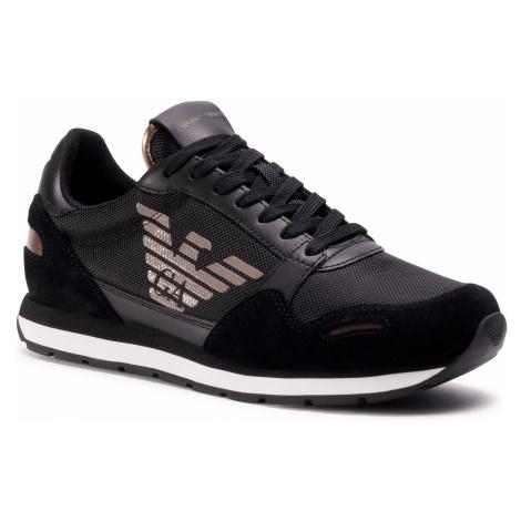 Sneakersy EMPORIO ARMANI - X4X215 XM561 N218 Blk/Blk/Metal Brown