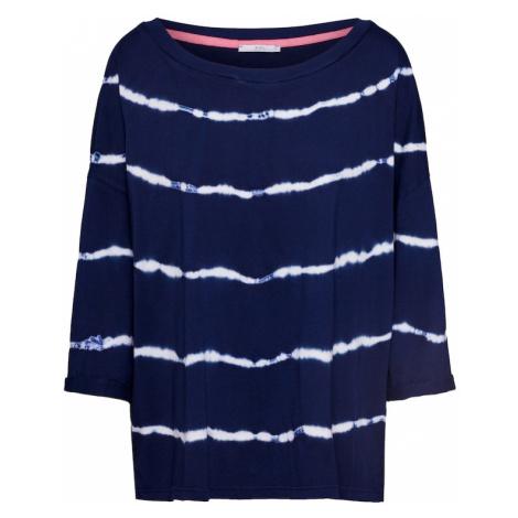 EDC BY ESPRIT Koszulka 'Tie dye' biały / jasnoniebieski