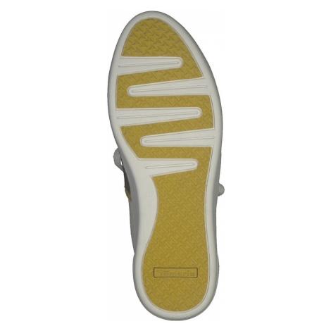 TAMARIS Trampki niskie żółty / biały / brązowy