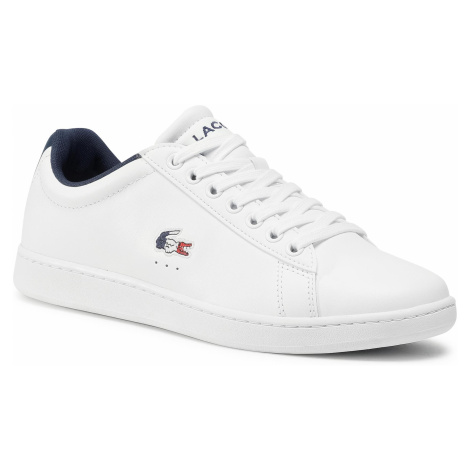Sneakersy LACOSTE - Carnaby Evo Tri 1 Sma 7-39SMA0033407 Wht/Nvy/Red