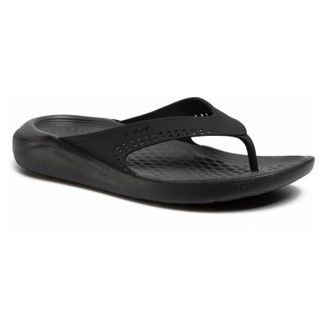 Japonki CROCS - Literide Flip 205182 Black/Slate Grey