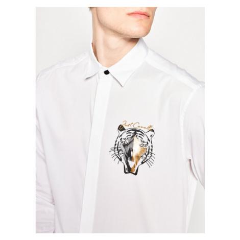 Just Cavalli Koszula S01DL0261 Biały Slim Fit