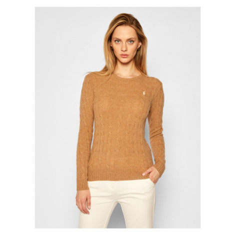 Polo Ralph Lauren Sweter Julianna Wool/Cashmere 211525764072 Brązowy Straight Fit