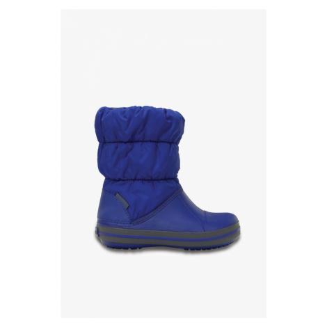 Śniegowce Crocs Winter Puff Boot Kids 14613 Cerulean 14613-4Bh Blue/light Grey