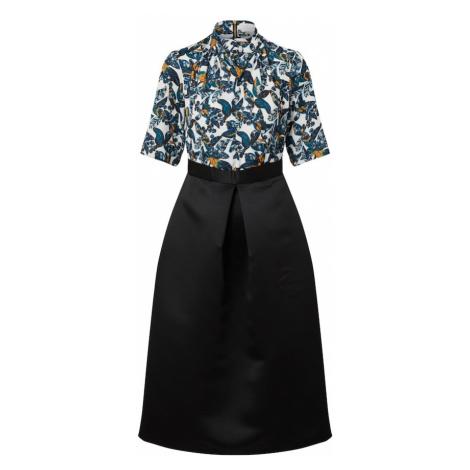 Closet London Sukienka 'Gold Twist' czarny / zielony