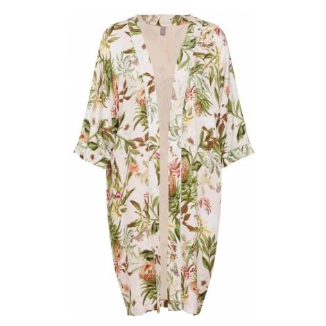 CULTURE Kimono 'Sidra' jasnozielony / mieszane kolory / różany