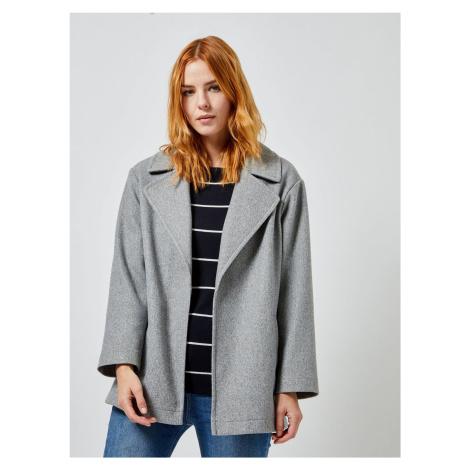Szary krótki płaszcz Dorothy Perkins