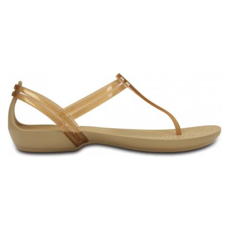Sandały Crocs Isabella T-Strap 202467 BRONZE