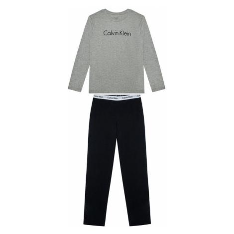 Calvin Klein Underwear Piżama Ls Knit Set B70B700052 D Szary Regular Fit