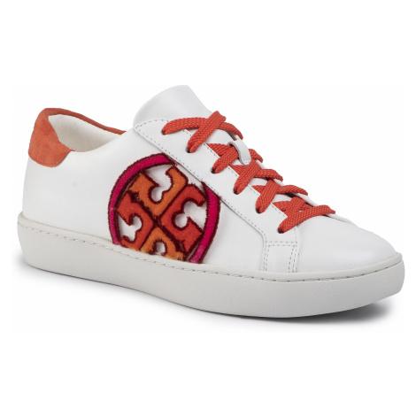 Sneakersy TORY BURCH - T-Logo Fil Coupe Sneaker 61710 White/Poppy Red/Multi 110