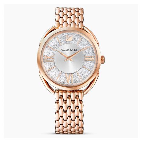 Zegarek Crystalline Glam, bransoleta z metalu, biały, powłoka PVD w odcieniu różowego złota Swarovski