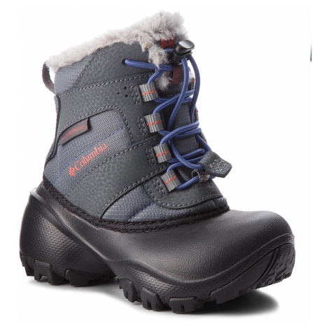 Śniegowce COLUMBIA - Childrens Rope Tow III Waterproof BC1323 Ti Grey Steel/Red Canyon 033