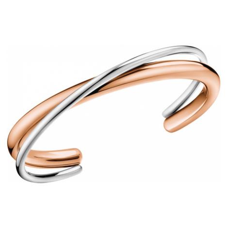 Calvin Klein Bransoletka Brązowy Srebrny Beżowy