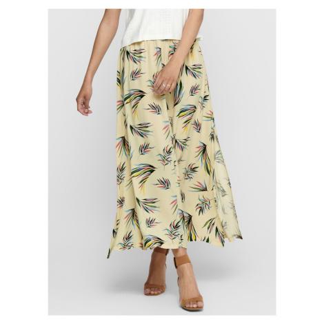Jacqueline de Yong jasno żółta maxi spódnica wzorzysta Tianna