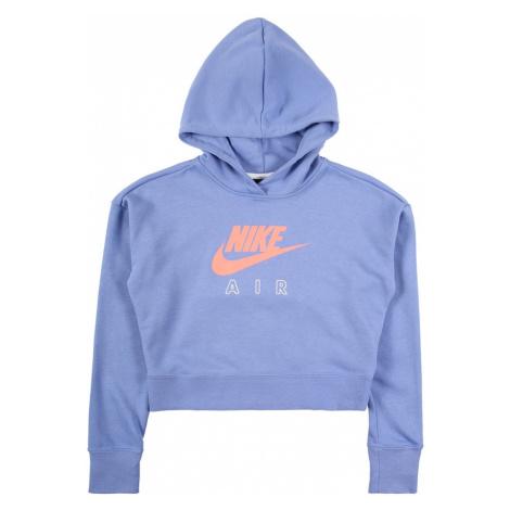 Nike Sportswear Bluzka sportowa gołąbkowo niebieski / koralowy / biały