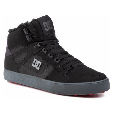 Sneakersy DC - Pure High-Top Wc Wnt ADYS400047 Black/Grey/Red (XKSR)