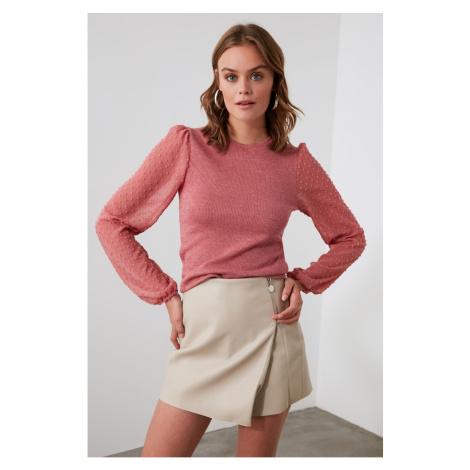 Trendyol Rose Dry Glitter Knitted Blouse