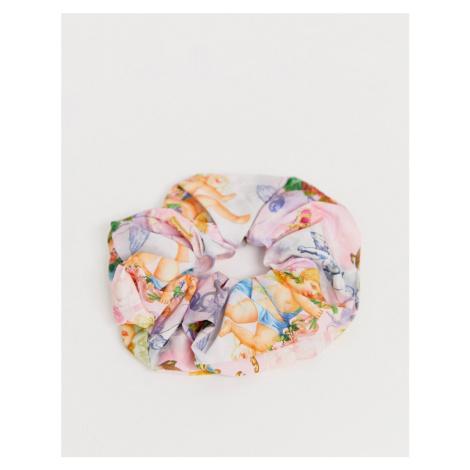 ASOS DESIGN large scrunchie in cherub print